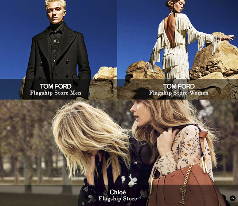 Development and Design of WEBSITE & APP for Fashion Stores MARION HEINRICH, TOM FORD and CHLOÉ